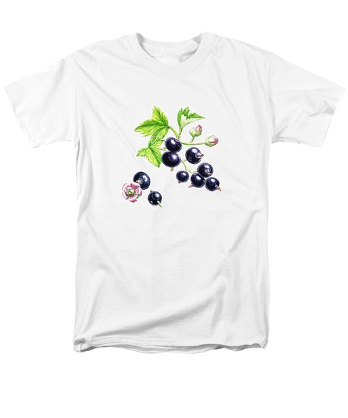 Men's T-Shirt  (Regular Fit) featuring the painting Blackcurrant Botanical Study by Irina Sztukowski