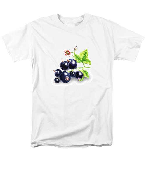Men's T-Shirt  (Regular Fit) featuring the painting Blackcurrant Still Life by Irina Sztukowski