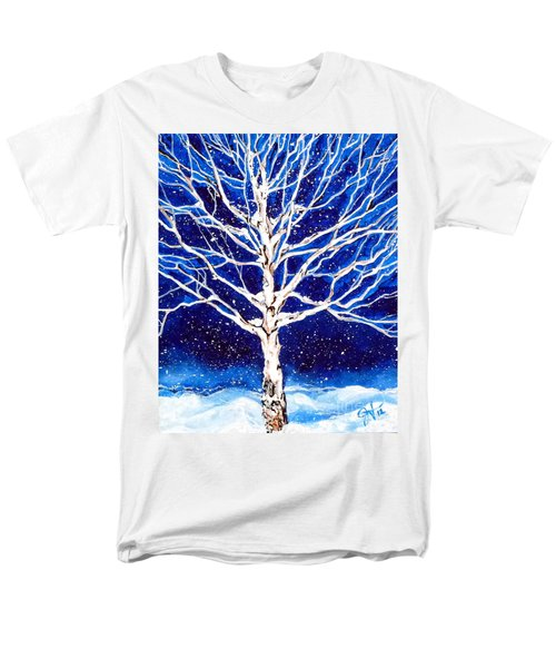 Men's T-Shirt  (Regular Fit) featuring the painting Blanket Of Stillness by Jackie Carpenter