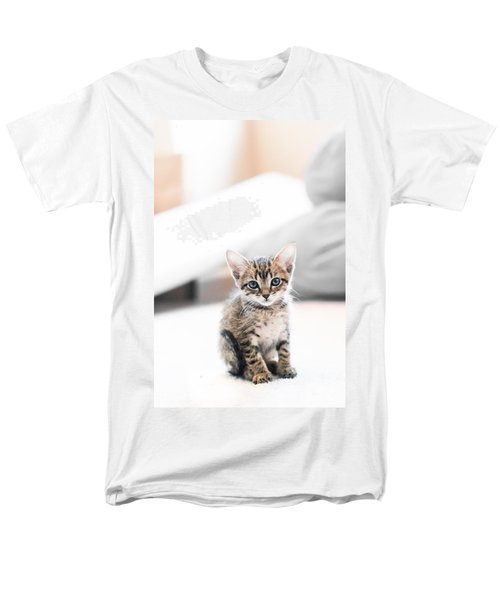 Blue Eyed Kitten Men's T-Shirt  (Regular Fit) by Shelby  Young