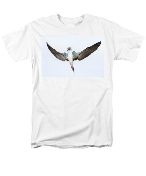 Blue-footed Booby Landing Galapagos Men's T-Shirt  (Regular Fit) by Tui De Roy