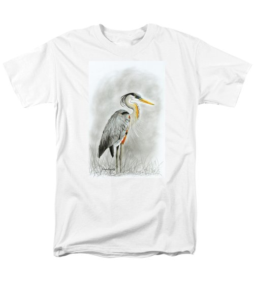 Blue Heron 3 Men's T-Shirt  (Regular Fit) by Phyllis Howard