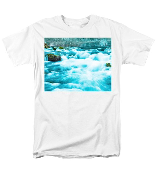 Men's T-Shirt  (Regular Fit) featuring the photograph Blue Lagoon by Steven Bateson