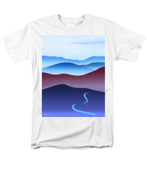 Blue Ridge Blue Road Men's T-Shirt  (Regular Fit) by Catherine Twomey