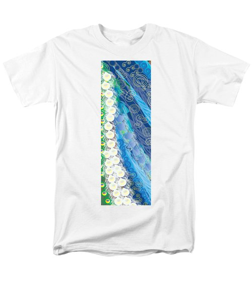 Men's T-Shirt  (Regular Fit) featuring the digital art Blue Swirls Detail by Kim Prowse