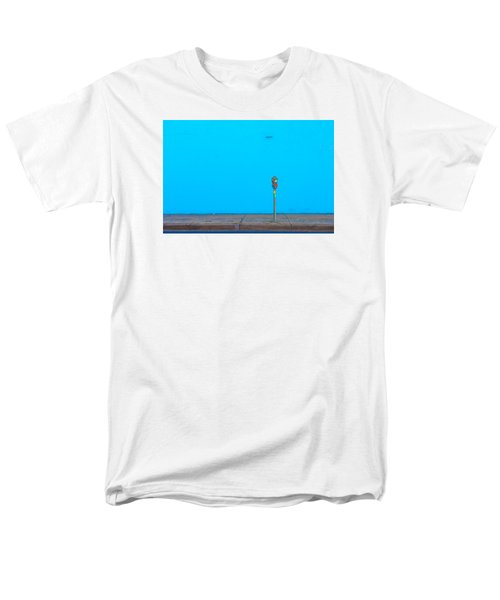 Men's T-Shirt  (Regular Fit) featuring the photograph Blue Wall Parking by Darryl Dalton