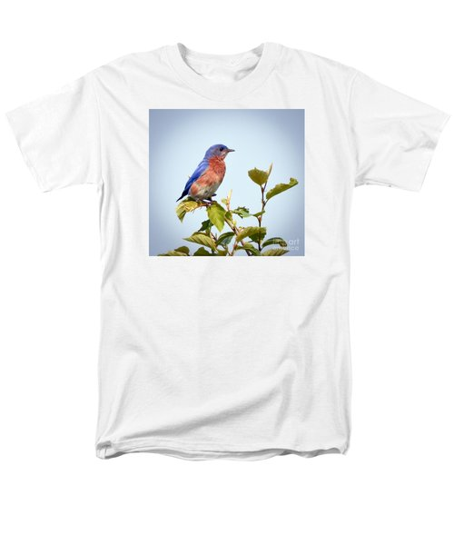 Men's T-Shirt  (Regular Fit) featuring the photograph Bluebird On Top by Kerri Farley