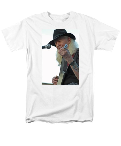 Men's T-Shirt  (Regular Fit) featuring the photograph Bluesman Johnny Winter by Mike Martin