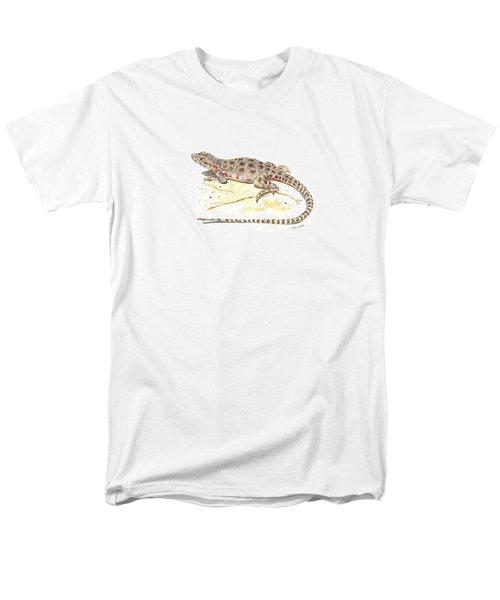Blunt-nosed Leopard Lizard  Men's T-Shirt  (Regular Fit) by Cindy Hitchcock