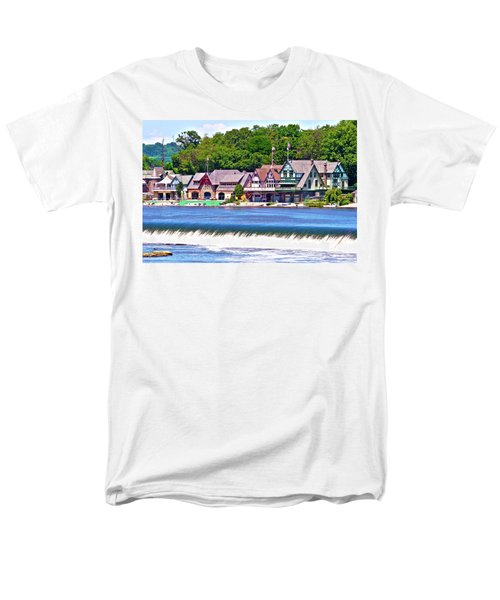 Boathouse Row - Hdr Men's T-Shirt  (Regular Fit) by Lou Ford