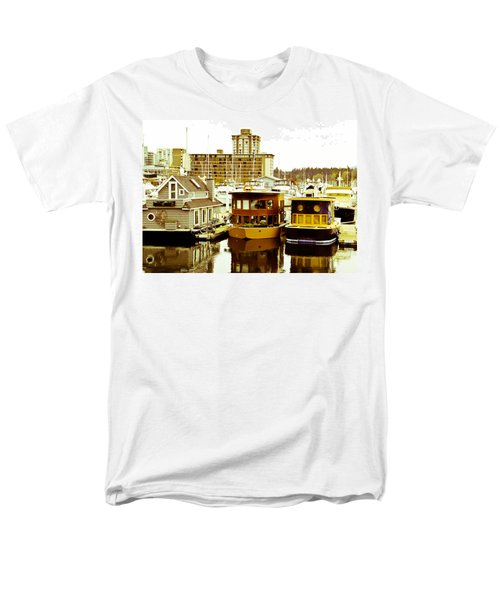 Men's T-Shirt  (Regular Fit) featuring the photograph Boathouses by Eti Reid