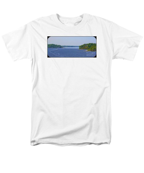 Boating On The Severn River Men's T-Shirt  (Regular Fit) by Patti Whitten