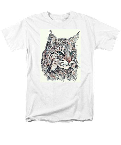 Bobcat Portrait Men's T-Shirt  (Regular Fit) by VLee Watson