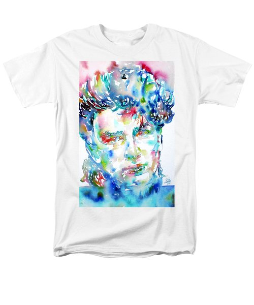 Bono Watercolor Portrait.1 Men's T-Shirt  (Regular Fit) by Fabrizio Cassetta