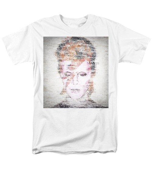 Bowie Typo Men's T-Shirt  (Regular Fit) by Taylan Apukovska