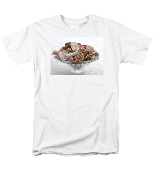 Bowl Of Potpourri On Lace Men's T-Shirt  (Regular Fit) by Connie Fox