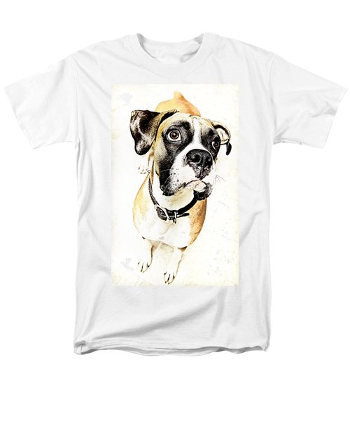 Men's T-Shirt  (Regular Fit) featuring the photograph Boxer Dog Poster by Peter v Quenter