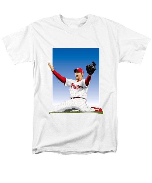 Brad Lidge Champion Men's T-Shirt  (Regular Fit) by Scott Weigner