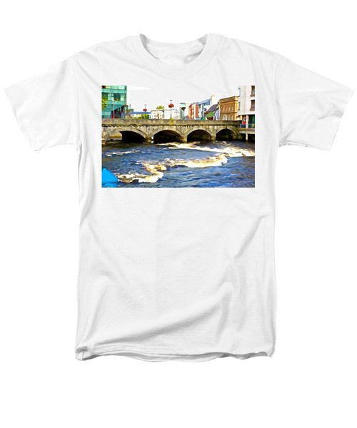 Men's T-Shirt  (Regular Fit) featuring the photograph Bridge On The Garavogue by Charlie and Norma Brock