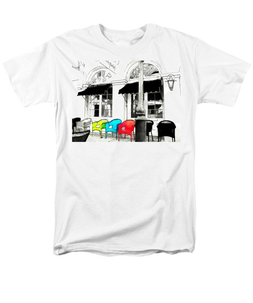 Men's T-Shirt  (Regular Fit) featuring the photograph Bright Bistro by Kathy Bassett