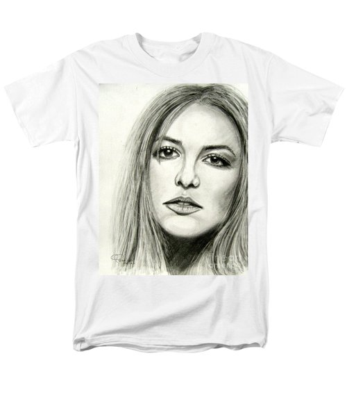 Men's T-Shirt  (Regular Fit) featuring the drawing Britney Spears by Patrice Torrillo