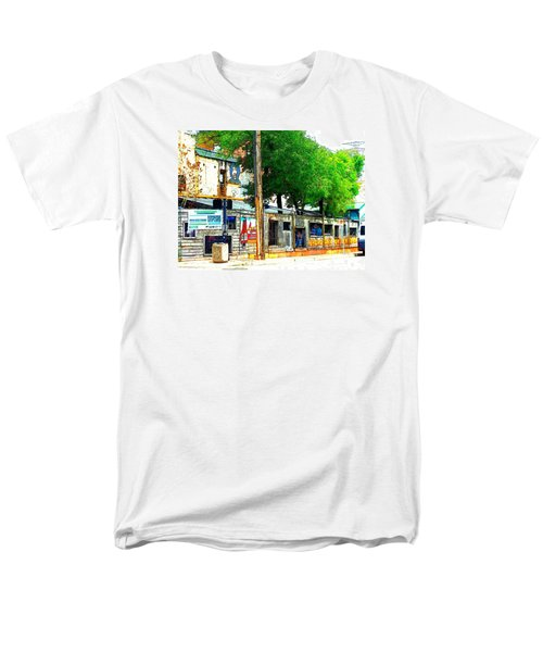 Broadway Oyster Bar With A Boost Men's T-Shirt  (Regular Fit) by Kelly Awad