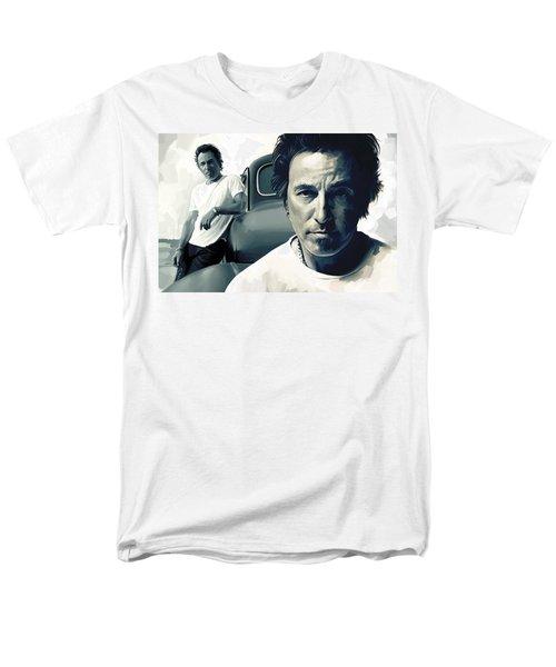 Bruce Springsteen The Boss Artwork 1 Men's T-Shirt  (Regular Fit) by Sheraz A