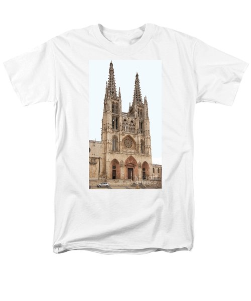 Men's T-Shirt  (Regular Fit) featuring the photograph Burgos Cathedral Spain by Rudi Prott
