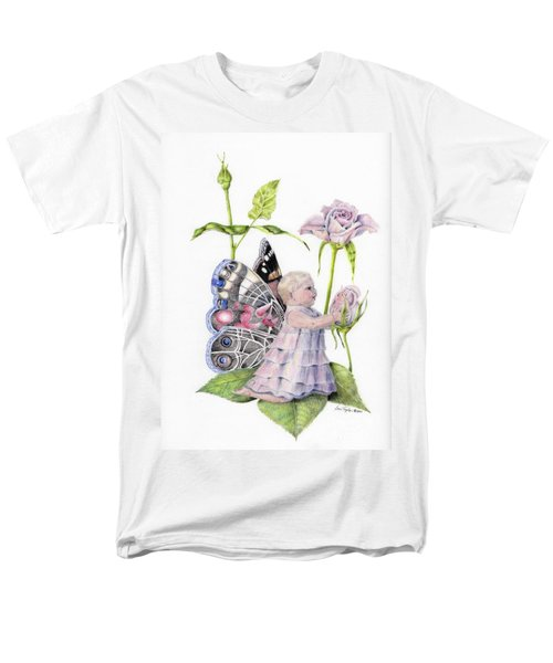 Men's T-Shirt  (Regular Fit) featuring the drawing Butterfly Baby by Laurianna Taylor
