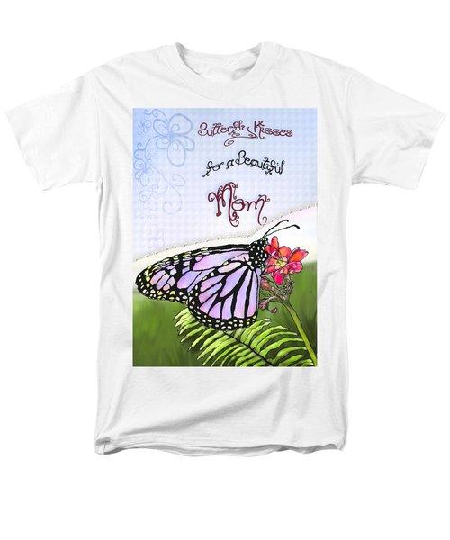 Butterfly Kisses Men's T-Shirt  (Regular Fit) by Susan Kinney