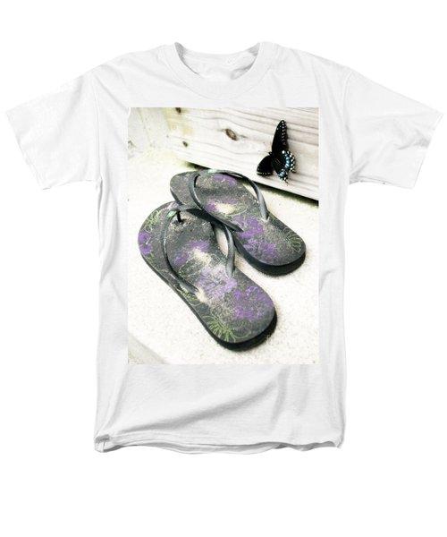 Men's T-Shirt  (Regular Fit) featuring the photograph Butterfly Summer by Angela DeFrias