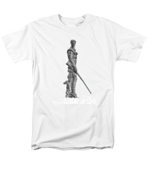 Bw Of Mountaineer Statue Men's T-Shirt  (Regular Fit) by Dan Friend