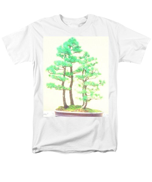 Caitlin Elm Bonsai Tree Men's T-Shirt  (Regular Fit) by Marian Cates