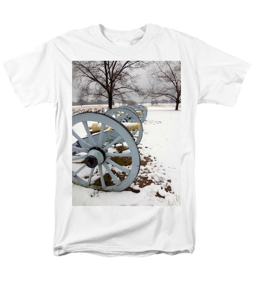 Cannon's In The Snow Men's T-Shirt  (Regular Fit) by Michael Porchik