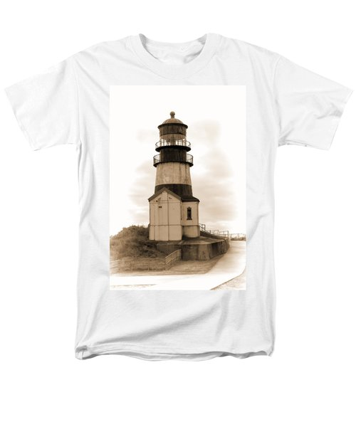 Cape Disappointment Lighthouse Men's T-Shirt  (Regular Fit) by Cathy Anderson