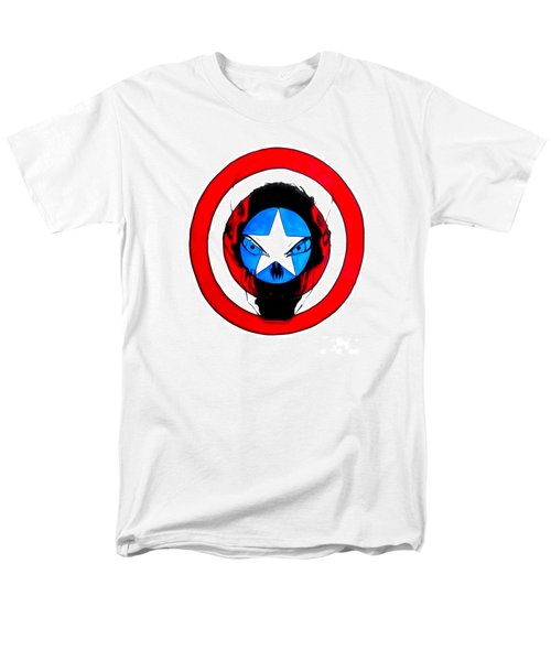 Captain America And Red Skull Men's T-Shirt  (Regular Fit) by Justin Moore
