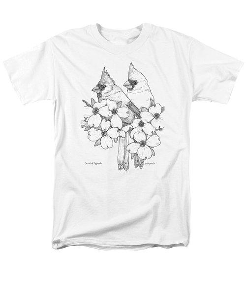Cardinals And Dogwoods Men's T-Shirt  (Regular Fit) by Jim Harris