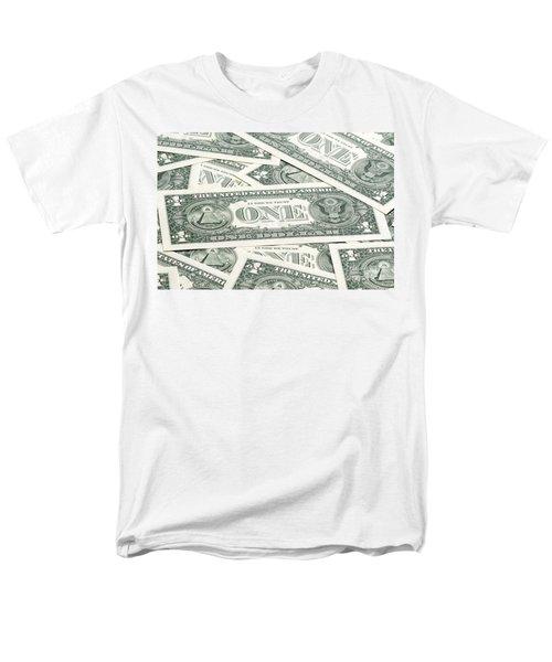 Men's T-Shirt  (Regular Fit) featuring the photograph Carpet Of One Dollar Bills by Lee Avison