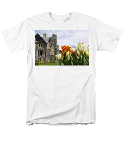 Castle Tulips Men's T-Shirt  (Regular Fit) by Marilyn Wilson