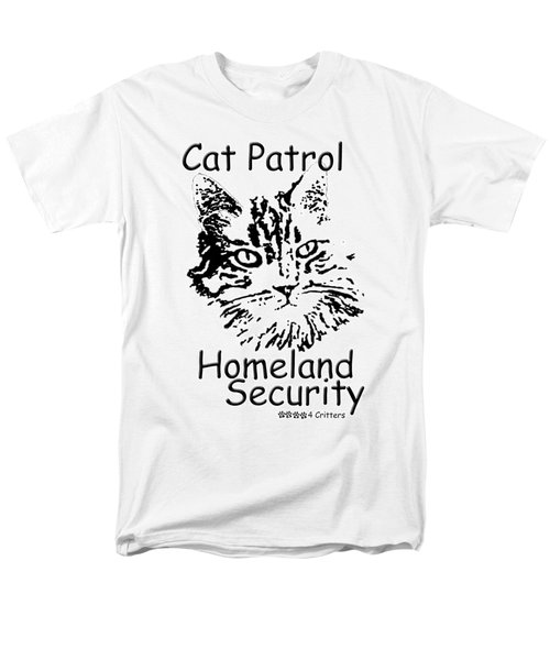 Men's T-Shirt  (Regular Fit) featuring the photograph Cat Patrol Homeland Security by Robyn Stacey