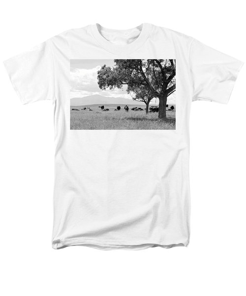 Men's T-Shirt  (Regular Fit) featuring the photograph Cattle Ranch In Summer by Clarice  Lakota