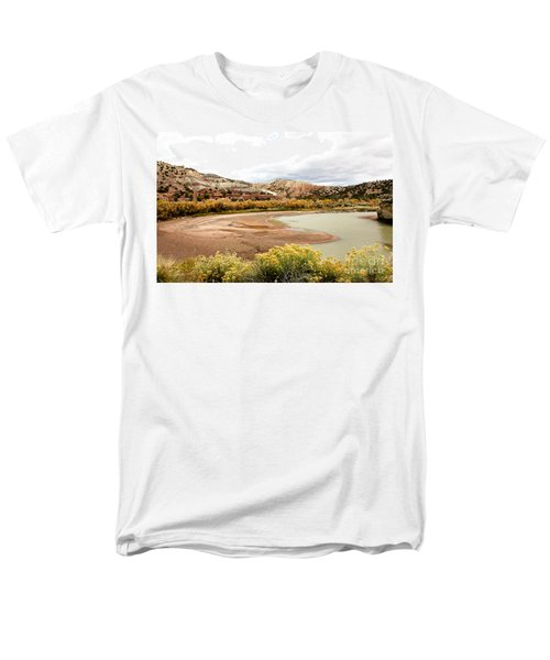 Men's T-Shirt  (Regular Fit) featuring the photograph Chama River Swim Spot by Roselynne Broussard