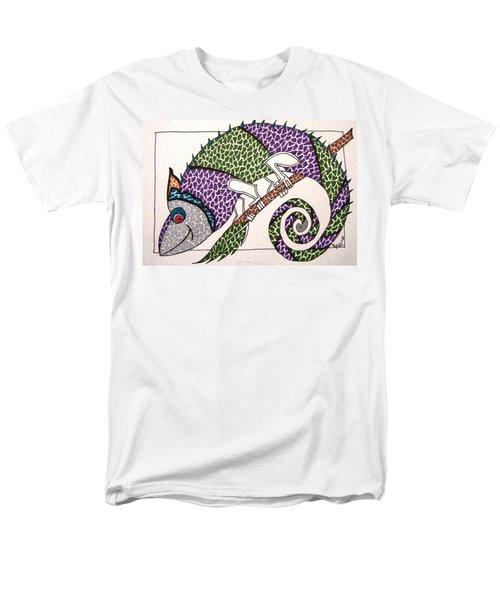 Chameleon Men's T-Shirt  (Regular Fit) by Kruti Shah