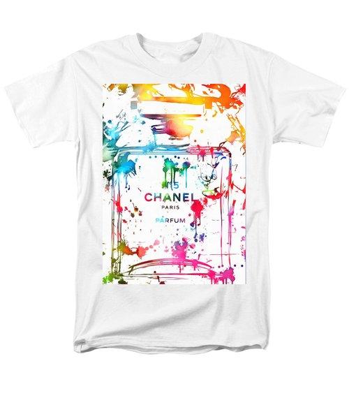 Chanel Number Five Paint Splatter Men's T-Shirt  (Regular Fit) by Dan Sproul