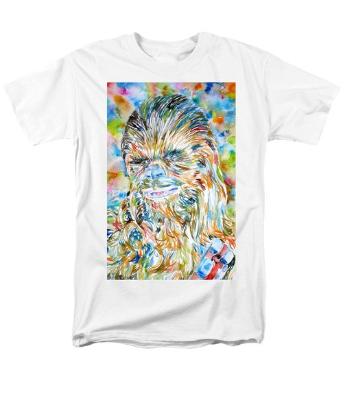 Chewbacca Watercolor Portrait Men's T-Shirt  (Regular Fit) by Fabrizio Cassetta