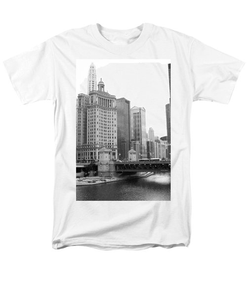 Men's T-Shirt  (Regular Fit) featuring the photograph Chicago Downtown 2 by Bruce Bley
