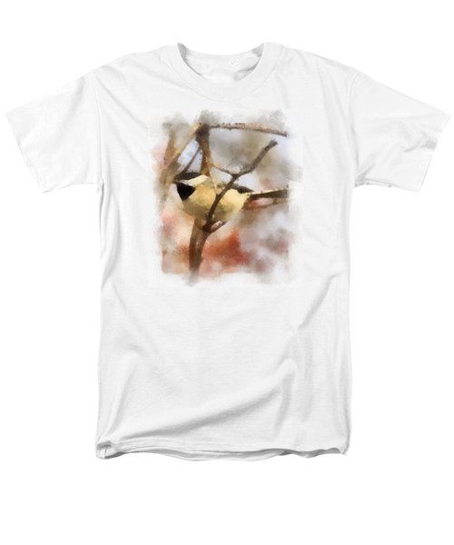 Men's T-Shirt  (Regular Fit) featuring the painting Chickadee Watercolor by Kerri Farley