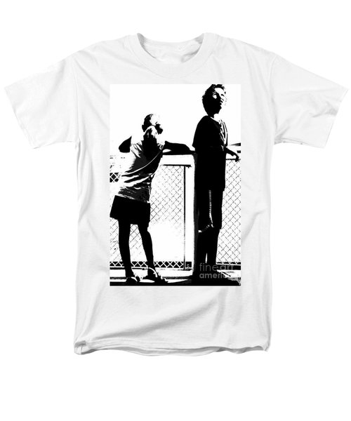Men's T-Shirt  (Regular Fit) featuring the photograph Children On Governors Island Ferry Ride by Lilliana Mendez