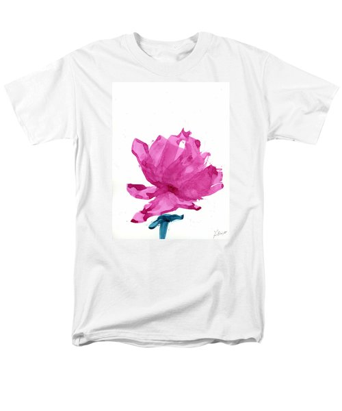 Men's T-Shirt  (Regular Fit) featuring the painting Chinese Rose Hibiscus by Frank Bright