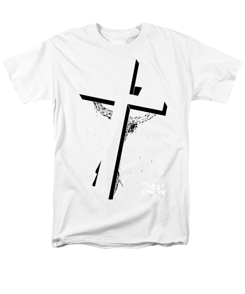 Christ On The Cross Men's T-Shirt  (Regular Fit) by Justin Moore